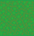seamless background with contour shamrocks vector image