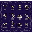 Set of astrological zodiac symbolsHoroscope signs vector image