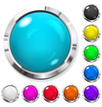 Set of multicolored buttons vector image