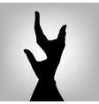 Silhouette woman hand Letter Y vector image