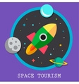 Space tourism flat logos and icon vector image