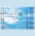 mechanical engineering drawings vector image
