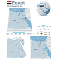 Egypt maps with markers vector image vector image