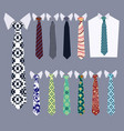 ties fashion neckties collection vector image