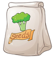 A pack of broccoli seeds vector image vector image