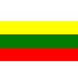 flag of Lithuanian vector image