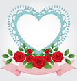 Red Roses Heart Shape Frame and Border vector image vector image