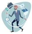 African businessman time management concept vector image
