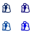 Set paper stickers on white background groom on vector image