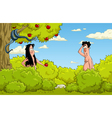 Adam and Eve in the Garden vector image