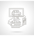 Movie at home detailed line icon vector image