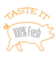 bbq taste it 100 fresh image vector image