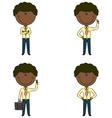 Cute and funny African-American businessmen vector image