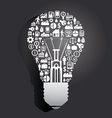 Elements are small icons make in Light bulb vector image