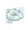 funny cloud with face vector image
