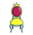 princess throne icon cartoon style vector image