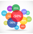 Sale and discount concept vector image