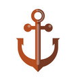 simple rusty anchor vector image