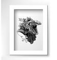 unusual original artwork of iguana lizard with vector image