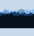background amusement park beauty scenery vector image