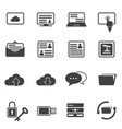 big data icon set cloud computing vector image
