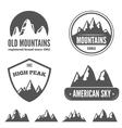 Set of vintage emblem label print or logotype vector image