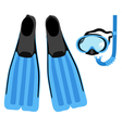 snorkeling set vector image