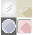 stationery flat icons 02 vector image vector image