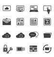 Big data icon set cloud computing vector image