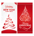 Christmas and New Year greeting cards vector image