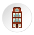 Dutch house icon flat style vector image