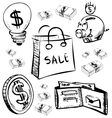 Finance and money icons set vector image
