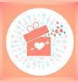 icon valentine day retro card vector image