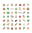 icons eco food vector image