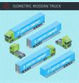 isometric cargo truck vector image