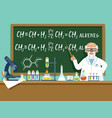 professor in his laboratory for experiments vector image