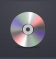 Realistic cd icon Design template vector image
