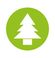 round icon cute tree cartoon vector image