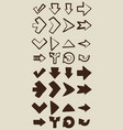 vintage abstract arrow vector image
