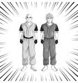 man boy anime comic design vector image
