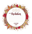 wedding card template autumn background invitation vector image