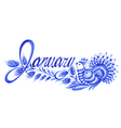 January the name of the month vector image