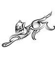 grey wolf vector image vector image