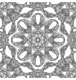 Seamless black and white texture with a boho vector image
