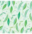 pea pod seamless green pattern vector image