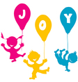 Hand made children with balloons vector image