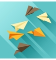 paper planes in flat design style vector image vector image