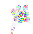 Abstract colorful Bunch of Ballons vector image