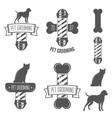 Set of vintage badge emblem and label elements vector image