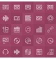 DJ outline icons set vector image
